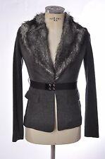 Giubbotto-giacca grigia da donna con pelliccia Pinko Tg 38 e Tg 42