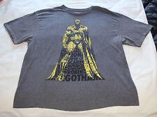 DC Comics Batman Dark Knight Mens Charcoal Marle Printed T Shirt Size XXL New