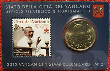 Vatican KM 387 - 50 Euro Cents 2012 STAMP & COIN CARD - UNC