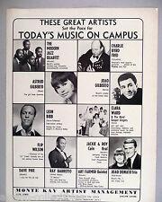 Modern Jazz Quartet, Flip Wilson, Joao & Astrud Gilberto PRINT AD - 1966