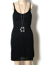 MANGO Kleid Gr. XS schwarz kurz/mini Sommer Träger Strick Kleid