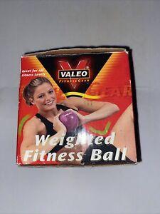 Valeo Fitness Toning Soft Weighted Mini Palm Medicine Ball Single 6 lbs Blue