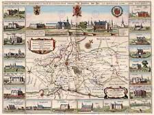 Mapa Antiguo Ypres Bélgica Países Bajos plan ciudad Envolvente Impresión Cartel BB8223