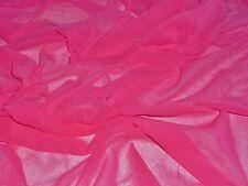 SOFT  MESH-CERISE-DRESS/CRAFT FABRIC-FREE P&P