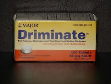 Major Driminate 50mg for Motion Sickness (Compare to Dramamine) -100ct