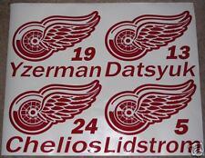 Yzerman Howe Datsyuk Detroit Red Wings Decal Sticker Custom - any one player