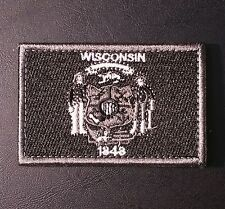 WISCONSIN STATE FLAG MORALE SWAT VELCRO® BRAND FASTENER BADGE PATCH