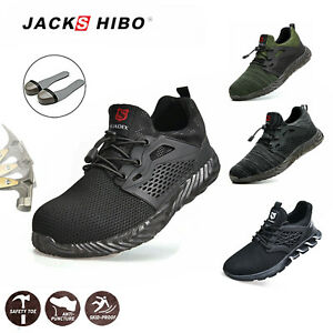 Mens Work Safety Shoes Indestructible Steel Toe Cap Boots Breathable Sneakers S3