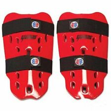 ProForce LIGHTNING Martial Arts Sparring Shin Guards Youth Size Large Red NEW