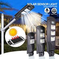 Solar Wall Street Light PIR Motion Sensor Waterproof Outdoor Garden Lamp Pole