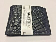 Wholesale lot 12PC (1dz) Crocodile Black Genuine Leather Bifold Mens Wallet