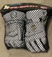 "Maverik M3 Lacrosse White/Green Gloves  12"" Size Medium, New"