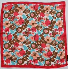 Nuovo Guess Sciarpa di Stoffa Fazzoletto da collo 100% Seta 50cm x (35) #2345