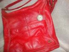 The Sak Iris red leather crossbody bag
