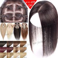 Clip in Women Remy Virgin Human Hair Topper Hairpiece Silk Frontal Toupee Wigs R