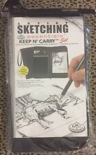 Artist Sketching Essentials Keep N' Carry Set Pencils Pad Eraser Case Kit