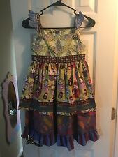 Matilda Jane Delancey Russian Doll Apron Knot Dress Size 10 Character Counts NEW