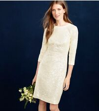 J Crew New $795 Collection Sequin Shift Dress Ivory Size 6 E0175 Sold Out!