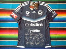 ✺Signed✺ 2018 MELBOURNE VICTORY A-League Jersey PROOF COA 2017