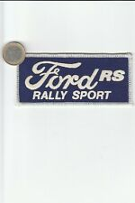 Ecussons Brodés. Automobile. FORD RS - Rally Sport