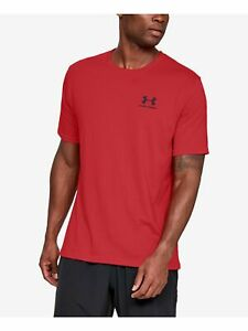 UNDER ARMOUR Mens Red Logo Graphic Short Sleeve T-Shirt S