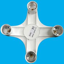 B22 to 4E27 Light Bulb Holder Adaptor Studio Photography Socket Splitter