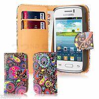 ÉTUI PORTEFEUILLE CUIR PU Pour Samsung Galaxy Young S6310+Protecteur d'écran