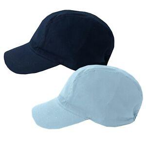Baby Boys Blue Navy 100% Cotton Summer Cap Hat 6-18 Months