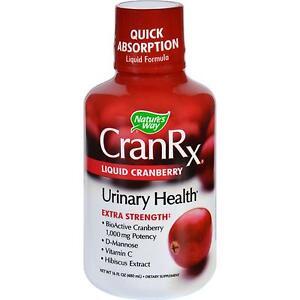 Natures Way Cran Rx  Urinary Health  Liquid Cranberry  Extra Strength 16 Oz