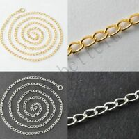 Wholesale 12 Pcs Gold Silver Plated Box Chain Charms Necklace For Pendants 42cm