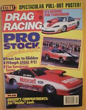 Drag Racing Magazine February 1990- Pro Stock Special- From Sox To Glidden