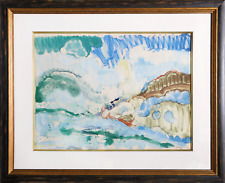 Romare Bearden, High Surf Orient Bay, St. Martin, Watercolor on Paper, signed l.