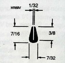 1/32 X 7/16  HR69V U Channel  Black Rubber Edge Trim ...... 50 FT