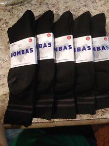 Lot of 5 Pair NEW Bombas Size XL Calf Socks Black Men's US Shoe Size 13.5-16