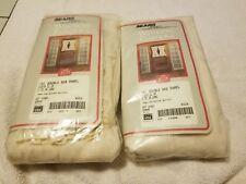 (2) Sears Spindrift Double Rod Pocket Ivory Curtain Panels 21 x 72 (New)