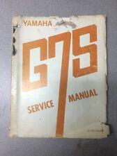 Yamaha Original 1972 G7S Service Manual!! RARE! / Motorcycle Repair Maintenance