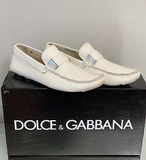 Dolce & Gabbana Mens White Tubolare Driver Shoes Size 9.5 US