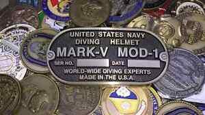 US NAVY DEEP SEA DIVER BRASS BELT BUCKLE