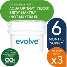 3 Aqua Optima Evolve 60-Day Water Filters fits BRITA MAXTRA Refill, 6 Month Pack