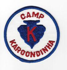 BOY SCOUT  CAMP KAROONDINHA  WHT  GB  PP   SUSQUEHANNA CNCL   PA