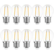 10 x LED Filament Tropfen 1W fast 15W E27 klar Kugel extra warmweiß 2200K außen