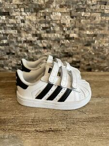 New Adidas toddler shoes SUPERSTAR Size 4K B23637 Vel cro Sneaker