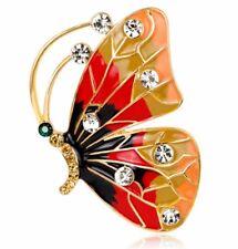 CRYSTAL BROOCH Butterfly BROOCH WEDDING BIRTHDAY Christmas mothers day cute 662