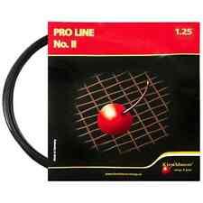7 packages of Kirschbaum Pro Line No.II 1.25/16L Black Tennis String