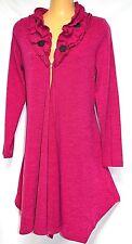 plus sz XS / 14 TS TAKING SHAPE Ruffle Cardy soft light comfy jacket NWT rp$130!