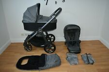 Travel System 2in1 Oyster 3 in City Grey  inc Footmuff