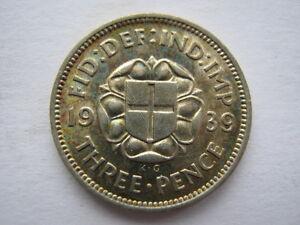 1939 silver Threepence, GEF.