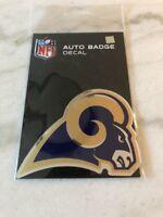 NFL Los Angeles Rams Die Cut Color Automobile Emblem Football New Car Vehicle