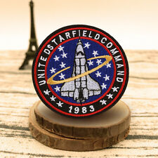 Space Airplane Patch Embroidered Sew On Iron On Fabric Applique Badge Craft Gift
