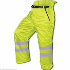 Chain Saw Winter Safety Pants,Meets OSHA,ASTM Insulation,Large Pockets,L,Green